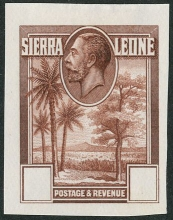 Sierra Leone The Rice Fields Die Proof Stamp from 1932-1937