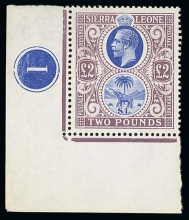 Sierras Leone 1921-1927 King George V Two Pounds Stamp