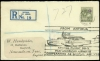 Antigua 1931 Airmails envelope registered to England, large cachet FROM ANTIGUA/SPECIAL FLIGHT DO-X/PAN-AMERICAN AIRWAYS/COOPERATING AS SPECIAL AGENTS