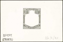 Die Proof of the King George V Two Shillings Bermuda stamps