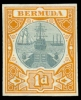 Bermuda 1902 1d Dry Dock Color Trial