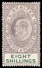 Gibraltar KEVII stamp 1906-12 8/-